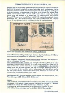 DEUTSCHER BEITRAG ZUM FALL VON SERBIEN 1915
