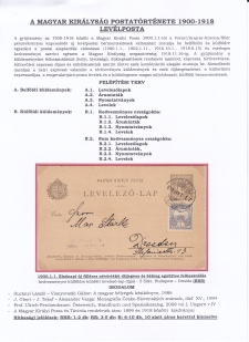 POSTAL HISTORY OF THE HUNGARIAN KINGDOM 1900-1918 - LETTER POST