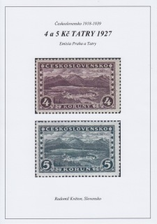 CZECHOSLOVAKIA 1918-39: 4 and 5 K HIGH TATRAS