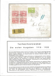 CZECHOSLOVAK FIRST STAMPS ISSUES 1918-1920