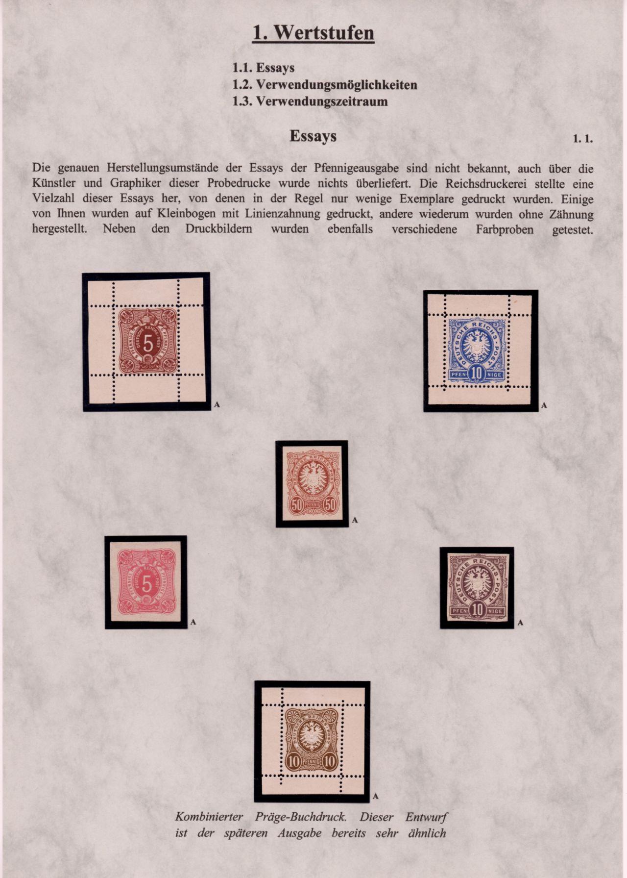 Philatelistisches Exponat: DEUTSCHES REICH - FREIMARKENAUSGABE ...