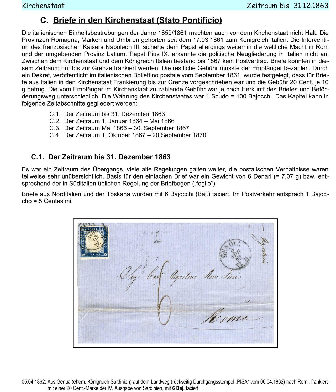 Brief Oesterreich Nach Deutschland : Philatelistisches exponat italien briefpost