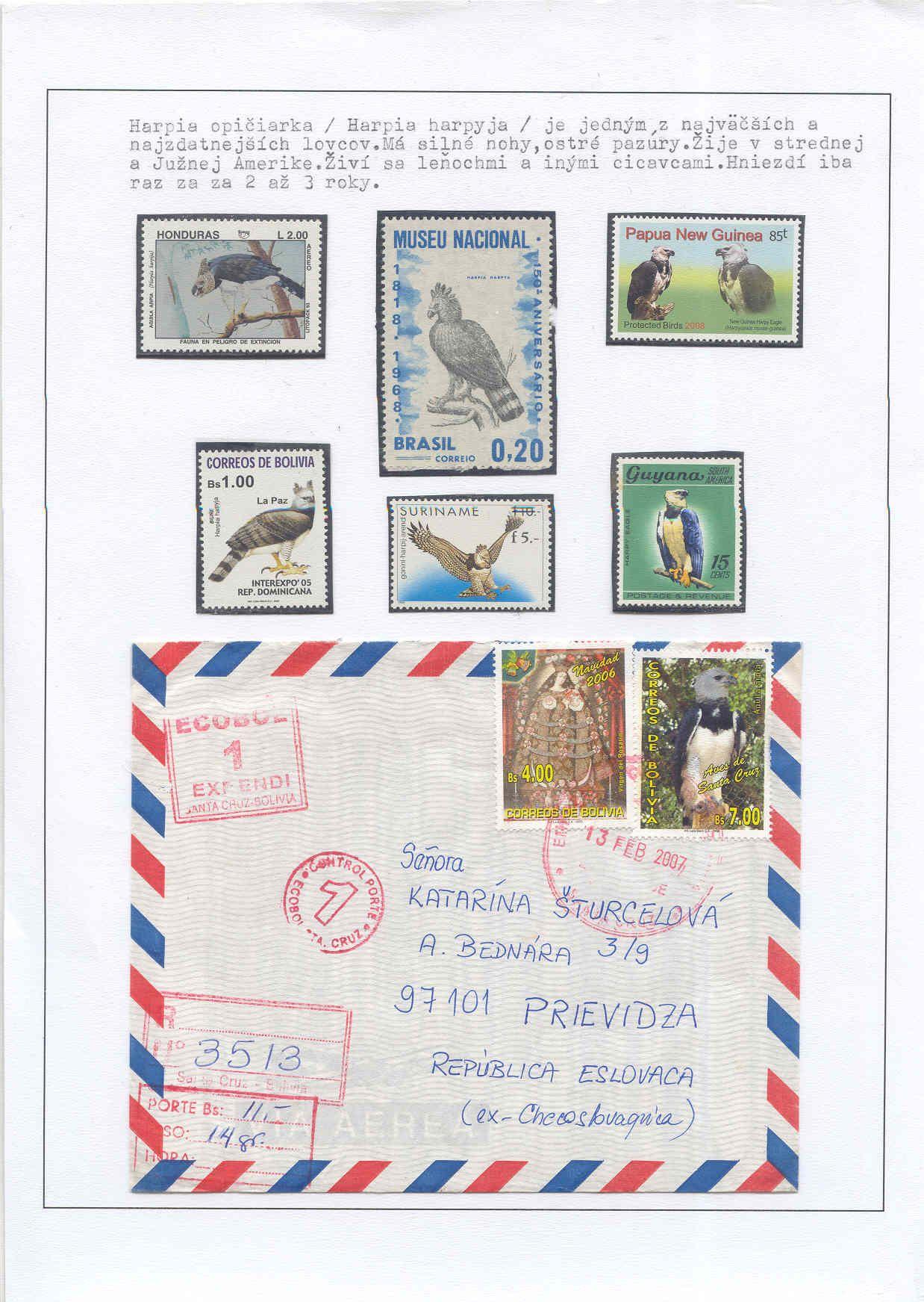 Filatelistický exponát: poznaj a chráň - trieda vtákov