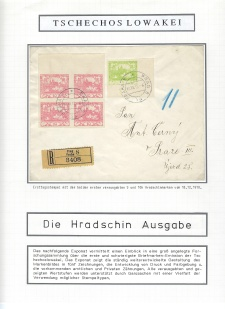CZECHOSLOVAKIA - HRADCANY STAMPS ISSUE