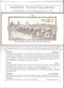 MODERN CZECHOSLOVAKIA, HIGHLIGHTS OF THE STAMP ISSUES 1943-1983