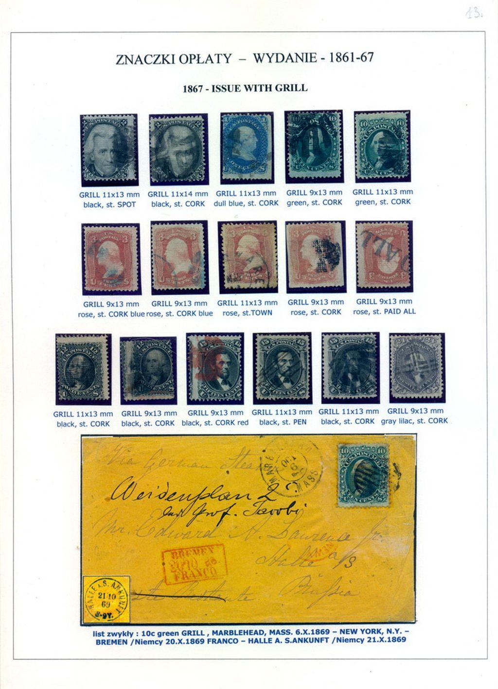 Philatelistisches Exponat: DIE VEREINIGTEN STAATEN VON AMERIKA 1847-1947