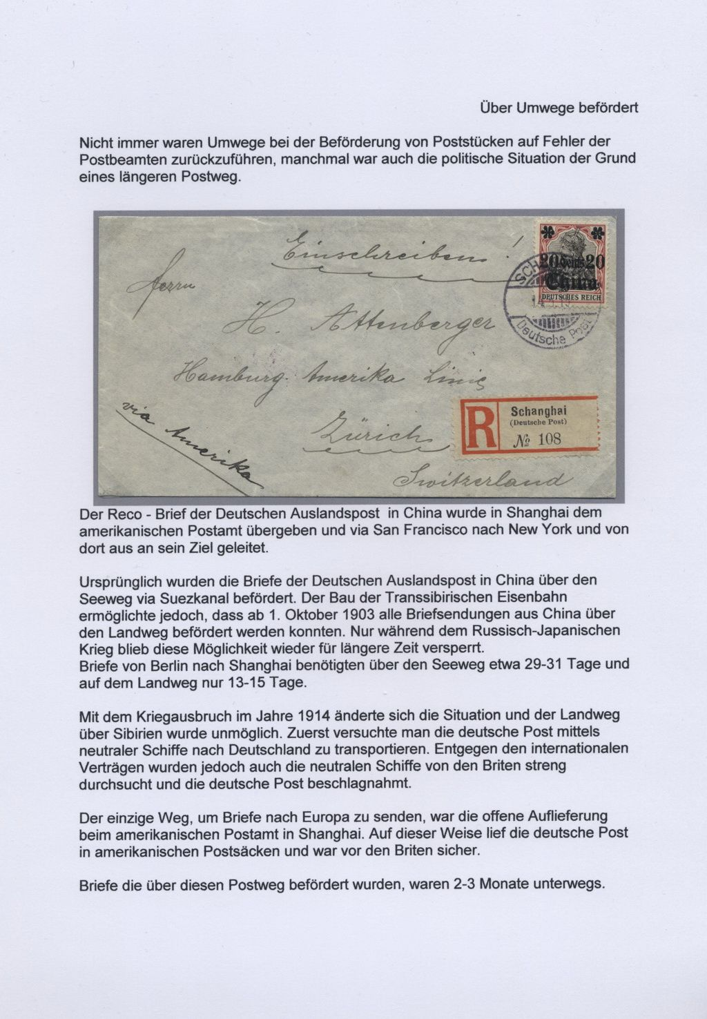 Philatelic Exhibit Outstanding Cards And Covers