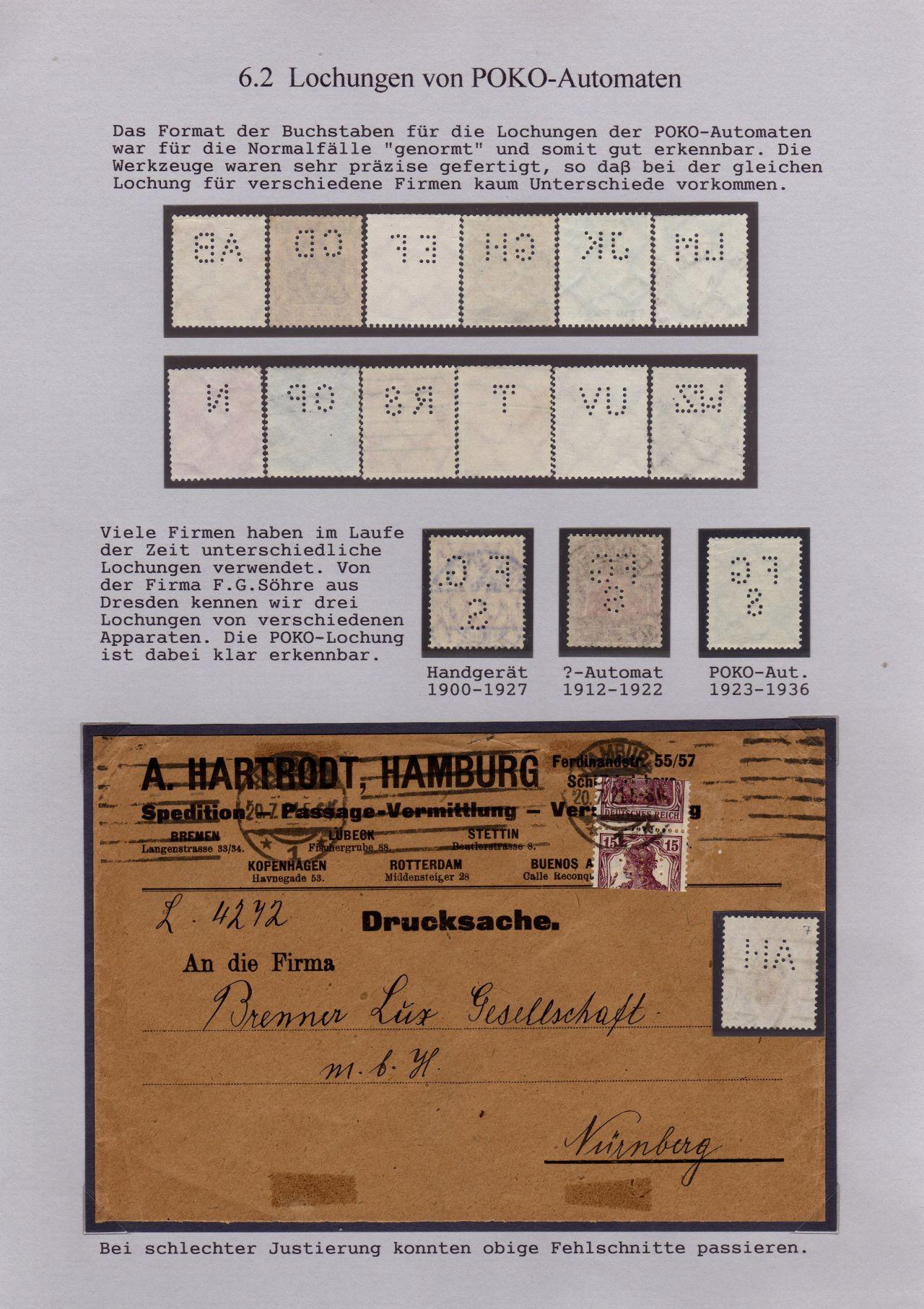 Philatelistisches Exponat: LOCHUNGEN - STIEFKINDER DER PHILATELIE