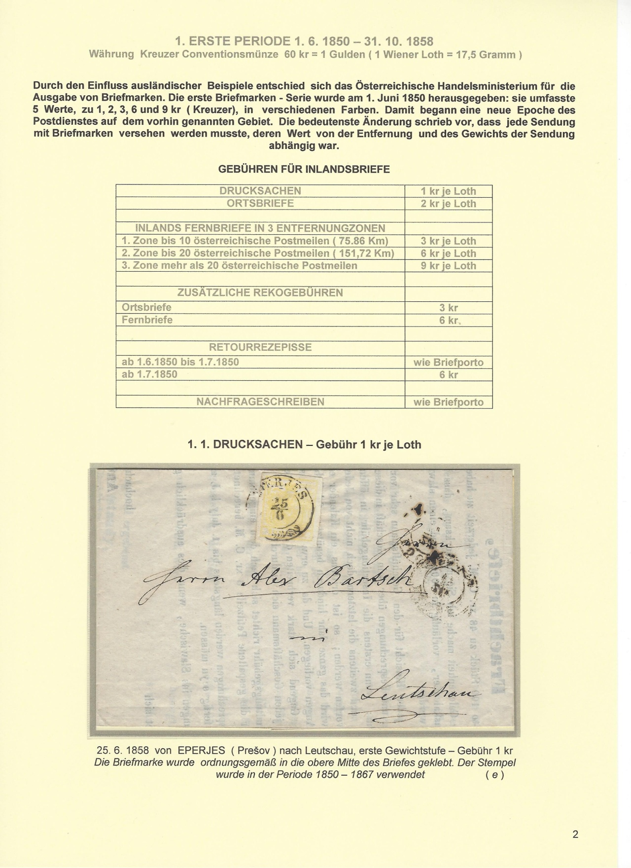 ersten tschechischen briefmarken