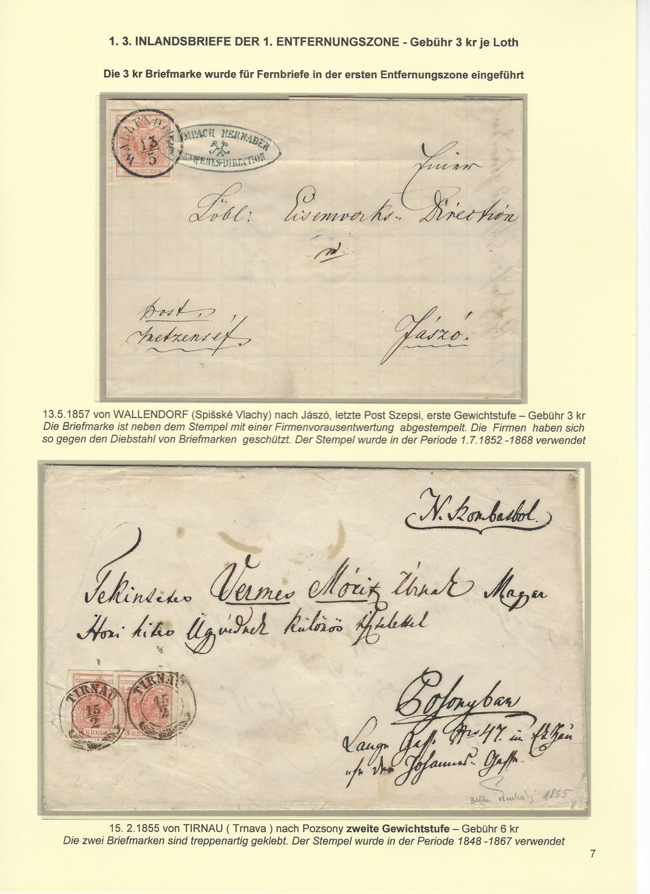 Philatelic Exhibit Austrian Post On The Territory Of Todays