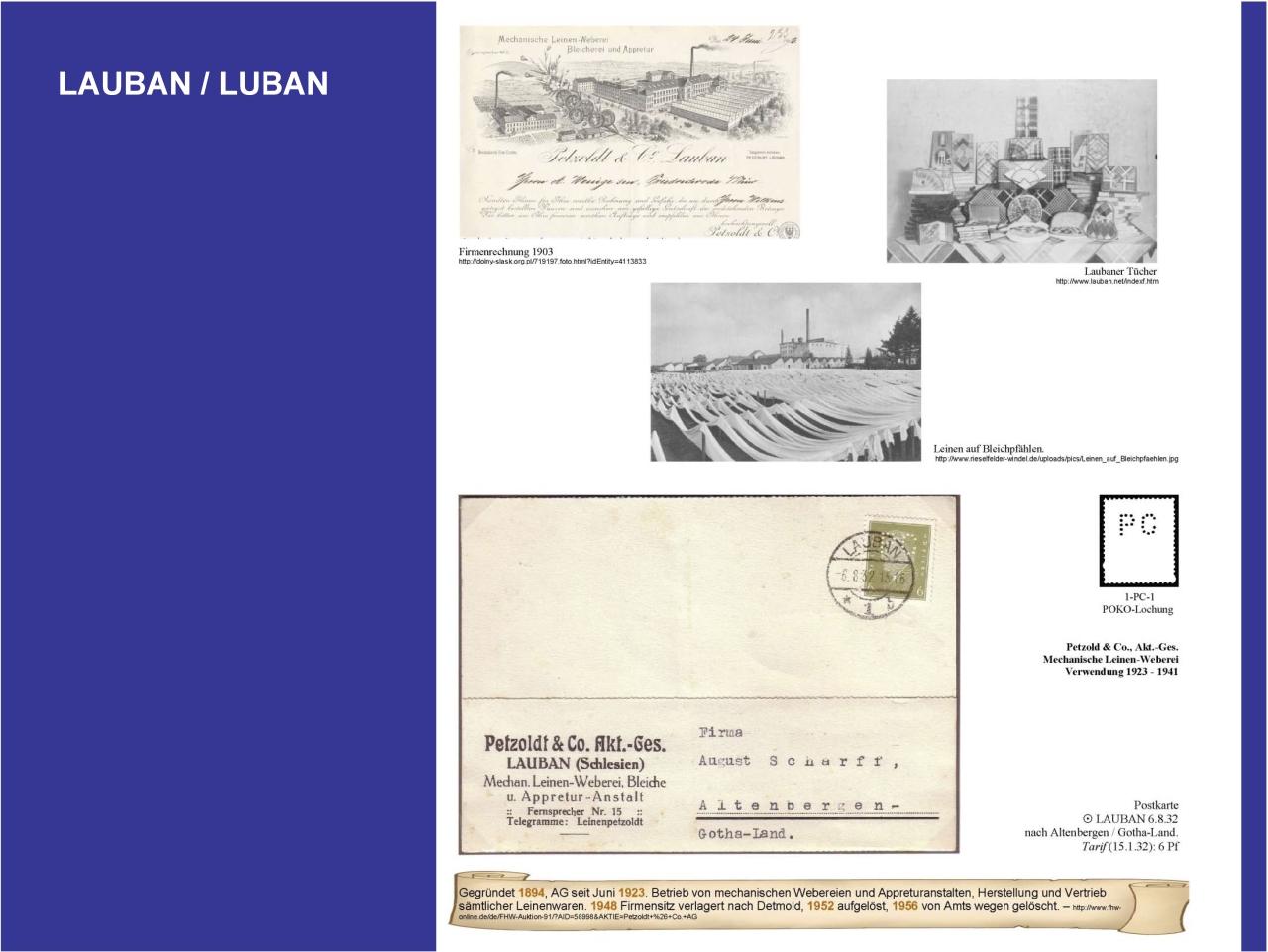 Philatelic exhibit: GERMAN PERFINS ON THE TERRITORY OF TODAY\'S POLAND